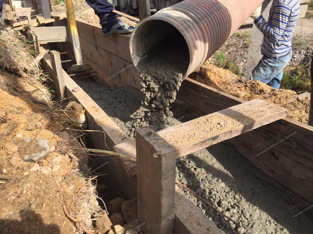 Подача бетона на объекте